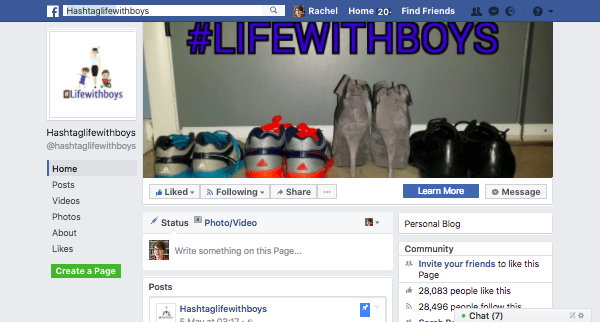 The #lifewithboys Facebook page