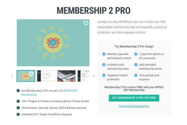 WPMU DEV Membership 2 Pro plugin
