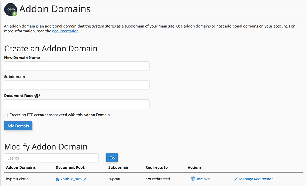 Adding domains to your network.