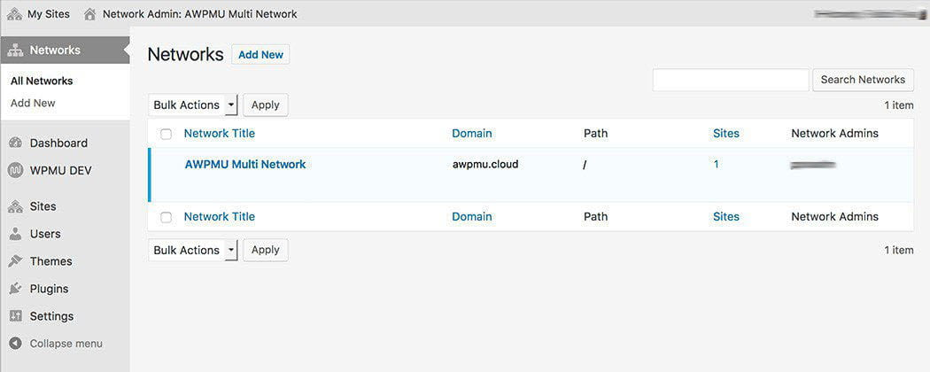 Setting up your multi-network.