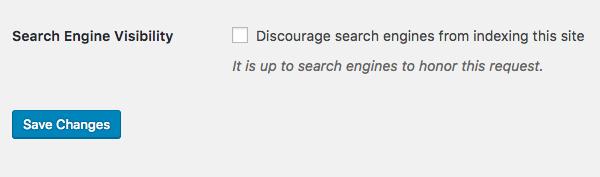 Reading settings in WordPress