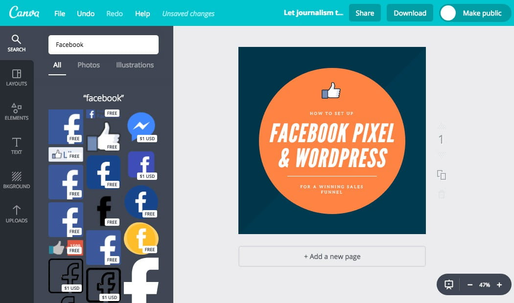 Search through Canva's huge collection of images for what you need.