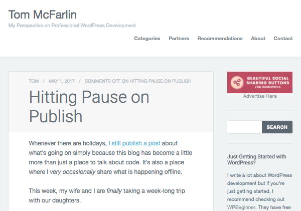 Tom Mcfarlin's blog