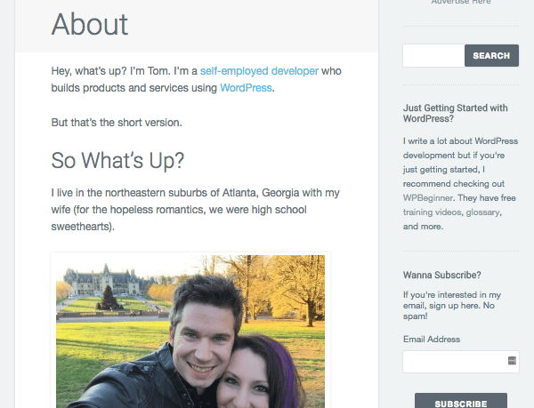 Tom McFarlin's blog - About page