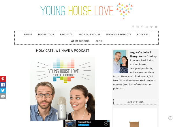 Young House Love website - podcast page