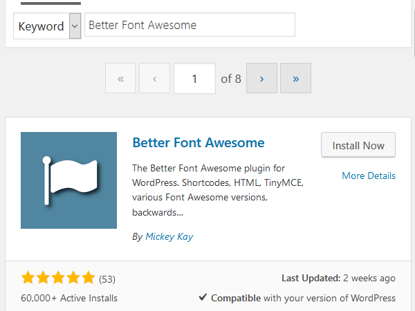 Better-Font-Awesome-Plugin-Install-and-Activate