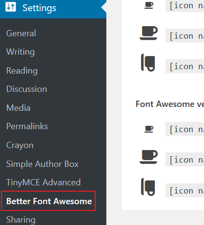 Better-Font-Awesome-Plugin-New-Menu-Item