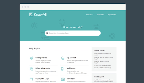 Self-Service Support - KnowAll