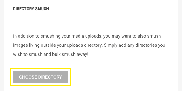 The Directory Smush option.