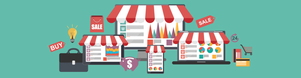eCommerce stores illustration