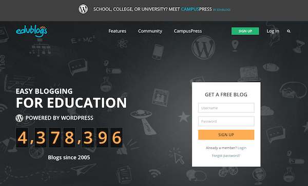 Edublogs is a prefect example of a multisite