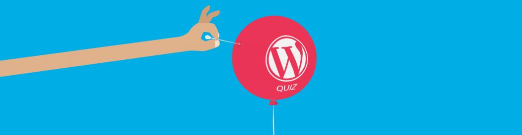 WordPress pop quiz