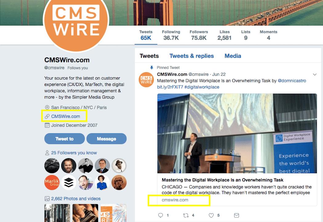 Backlinks - CMSWire Links
