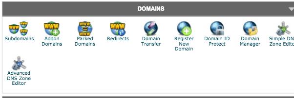 cPanel domain editing options