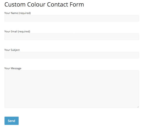 Contact Form 7 in ColorMag theme, no styling applied