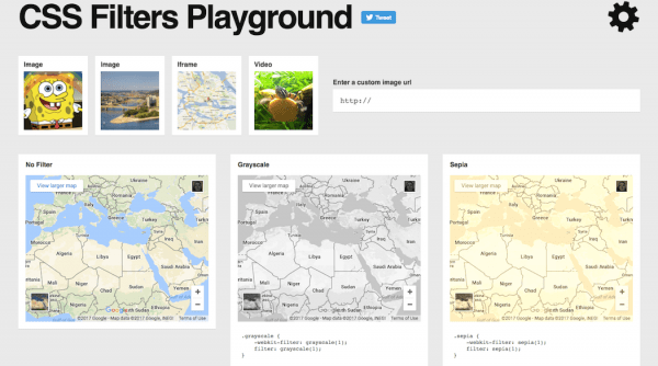 Image Filters - CSS Filters Playground