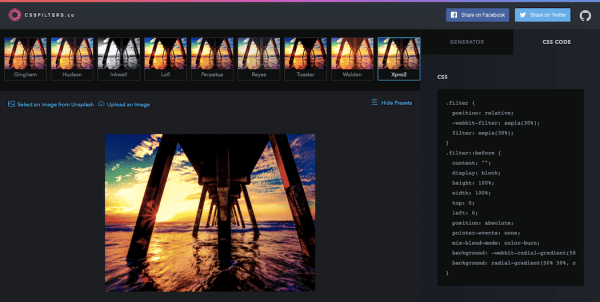 Image Filters - CSSFilters.co