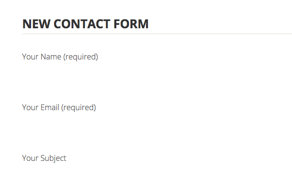 A second Contact Form 7 form on a new page on Spirit theme: form fields don't show