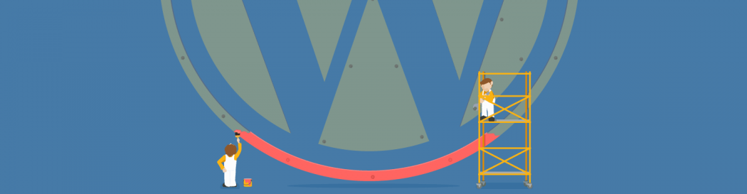Painting WordPress logo