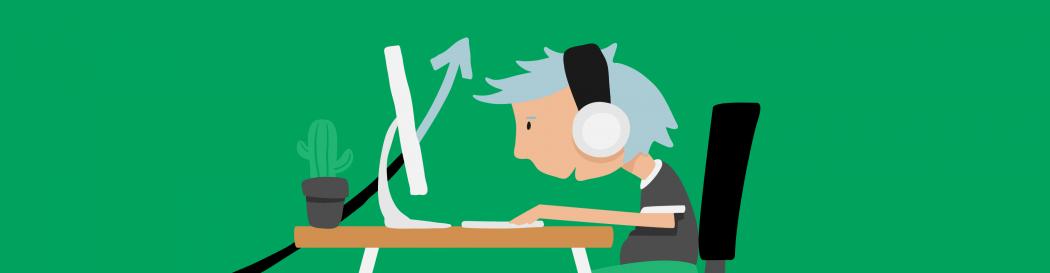 Freelancer typing on computer