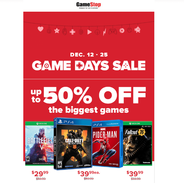Game Stop do a great job with their newsletters