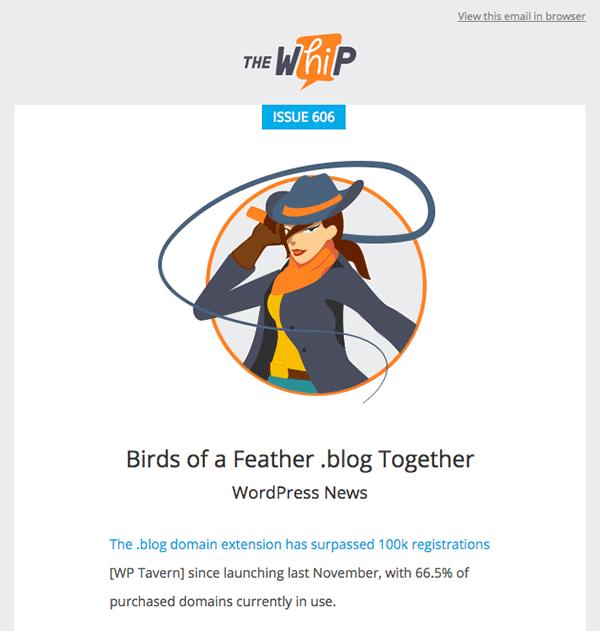 The WhiP WordPress newsletter