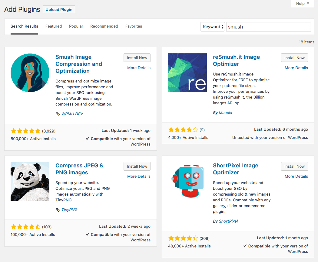 Searching for WordPress plugins.