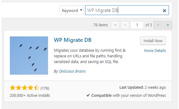 wp-migrate-db plugin install