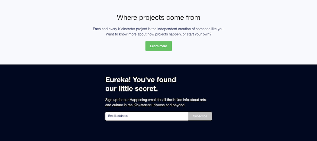 Element of Surprise - Kickstarter Contact Form