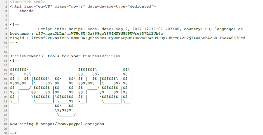 Element of Surprise - PayPal source code