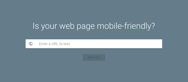 Google mobile-friendly test page