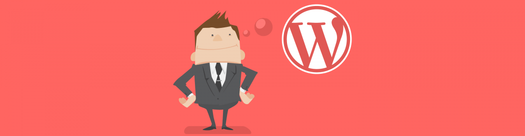 Man in business suit think about WordPress