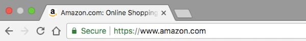 A secure website URL address