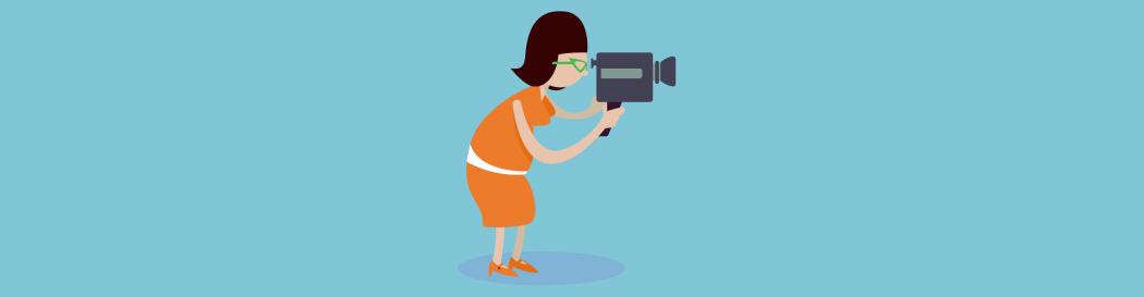 Woman taking video