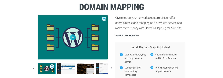 Domain Mapping plugin page on WPMU DEV