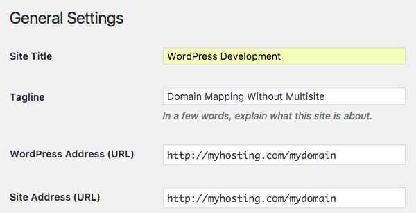 editing site url and WordPress url in settings