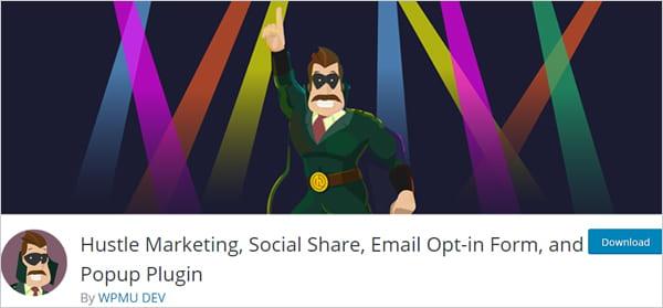 Hustle WordPress marketing plugin