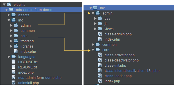 oop-based-plugin structure