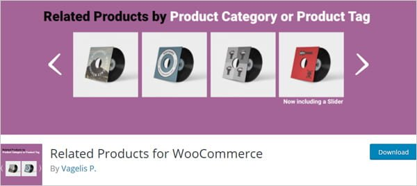 Related Products For WooCommerce WordPress plugin