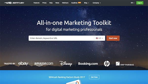 SEMrush website