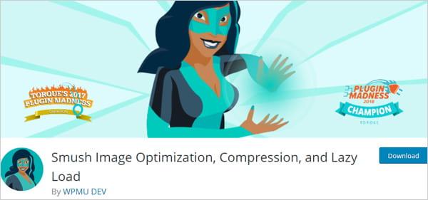 Smush image optimization plugin for WordPress