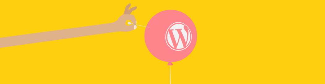 Pop WordPress balloon