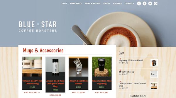 Blue Star Coffee Shop