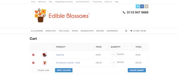 EdibleBlossoms.co.uk website
