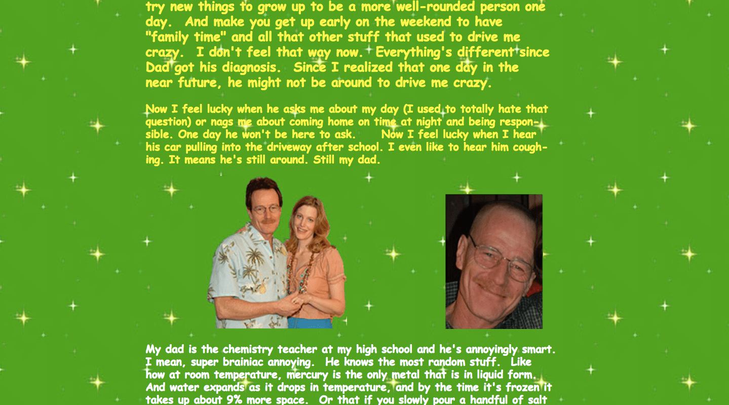 Scary Website - Breaking Bad Text