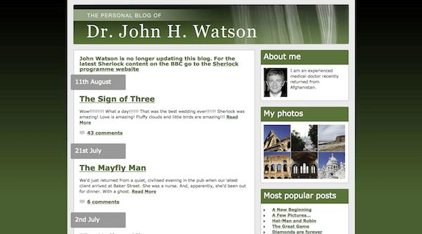 Scary Website - Sherlock Holmes