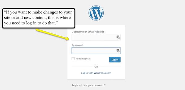 WordPress login help