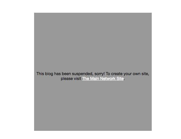 WordPress archived site custom screen