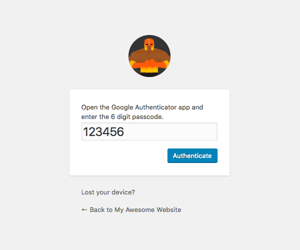 Defender two-factor authentication