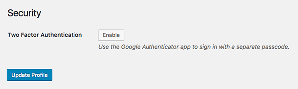 Enable two-factor authentication in Defender